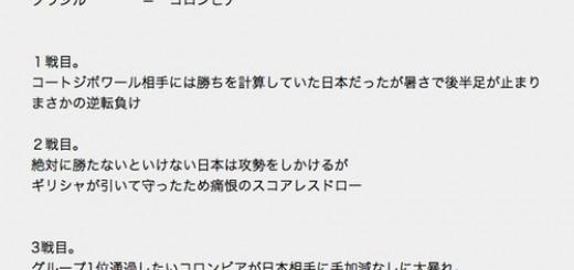 【これは予言!?】W杯日本代表戦の行方を完璧に言い当てた2ちゃんねらー