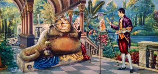 ゴシック絵画に有名キャラをちょい足し!David Irvineの「リダイレクト絵画」