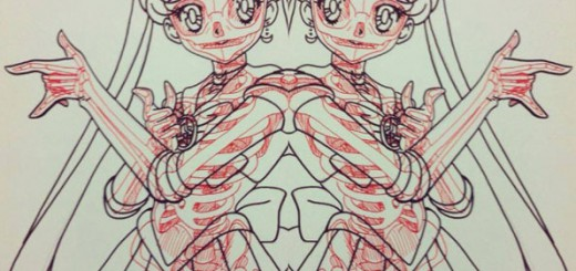 【ぬりえの新たな可能性】 X線写真でアニメキャラの骨格が判明!