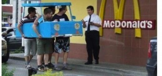 どこまで許される?マクドナルドのドライブスルーへの挑戦