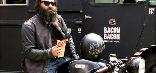 アメリカ人のベーコン愛が高じてベーコンで走るバイクが開発される