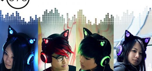 にゃんてクール!「ネコ耳型ヘッドフォン」が予約開始