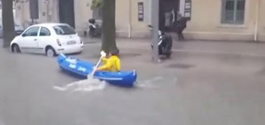 フランスで大洪水が発生した時の対処法が優雅