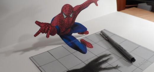 どう見てもこれ、3次元だろ!? 絵が宙に浮かんで見えるスゴ技トリックアート