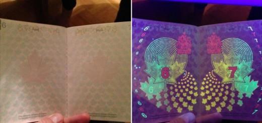 カナダの新しいパスポートに衝撃の秘密が隠されていた!ブラックライトを当てた結果・・・!