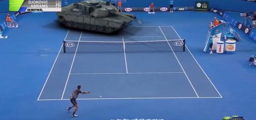 【全豪オープン非速報】ジョコビッチが準決勝で戦車と対戦!ありえないシチュエーションを再現した動画の結末とは…