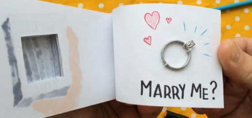 アメリカの鉄拳!?プロポーズのために作ったロマンティックなパラパラ絵本