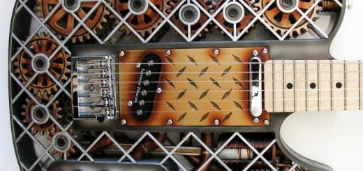 ボディに可動ギミックも!3Dプリンタで作る、斬新なデザインのギターが超かっこいい