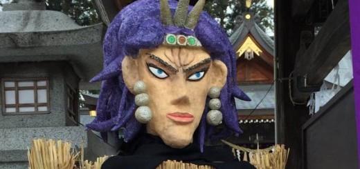 盛岡に「柱の男」が登場!?『ジョジョ』好き過ぎる神社の節分祭がファンの間で話題