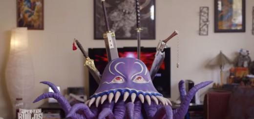 "FFシリーズに登場する""むかつくタコ野郎""ことオルトロスの包丁立て、名刀ぶっ刺さりまくりでキモ可愛い!"
