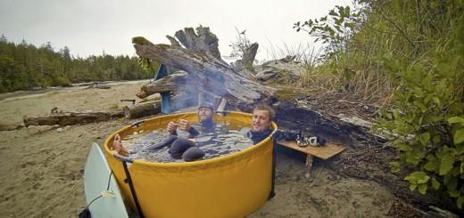 冒険心を刺激しまくり!どこでも簡単に作れる、薪と水しか必要ないポータブル露天風呂キット