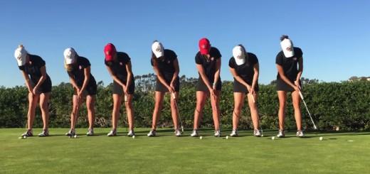 アメリカの女子大生ゴルフファーたちがトリックプレーを披露!神技連発の動画がすごい