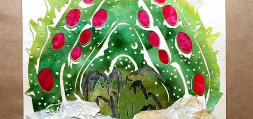 Twitterで「王蟲」の切り絵を投稿し合う企画が開催!どの絵もレベル高けぇぇ!