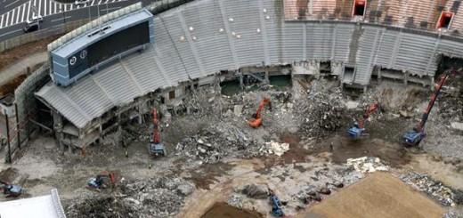 『AKIRA』にそっくり!国立競技場の解体写真がTwitterで話題