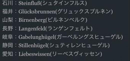 各都道府県をドイツ語に変換すると・・・どれもカッコ良くなることが判明
