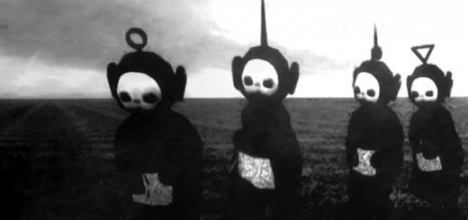 テレタビーズを白黒映像にした結果…異常な悪魔感が出てJoy DivisionのMVそっくりになる