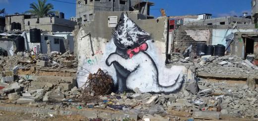 バンクシー、パレスチナのガザ地区で2015年最初の活動を開始