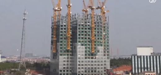 中国の建設会社、わずか19日間で57階建て超高層ビルを完成させる