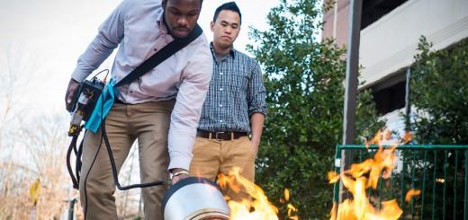 音で消火が出来る!?大学生が開発した超革新的な消火器