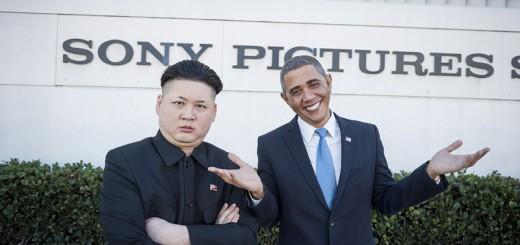 オバマと金正恩がソニーピクチャーズの前で仲良く2ショット!?そっくりさんが話題