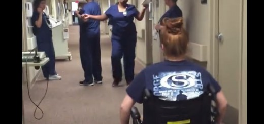 車いす患者が突然…ハイジの名シーンばりにサプライズな動画