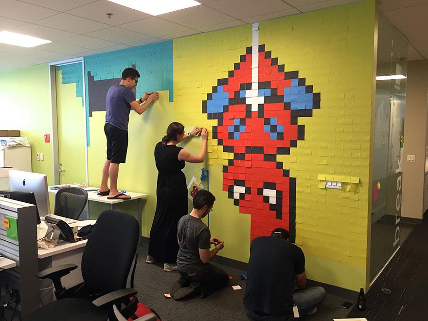 office-wall-post-it-art-superheroes-ben-brucker-17