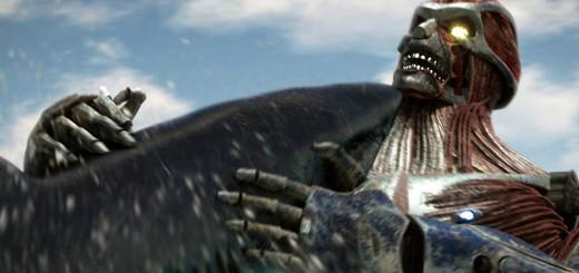 『メガ・シャーク』4作目に登場する巨人ロボがほぼ『進撃の巨人』