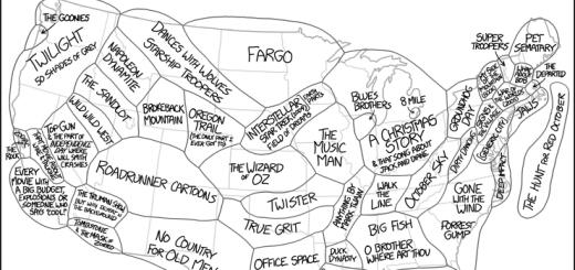 アメリカの名作映画たちが舞台になった州はどこか、一目で分かるマップ