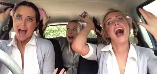 車中で「ボヘミアン・ラプソディ」をリップシンクする女子3人が新動画を掲載!今度はコスプレ&メドレー