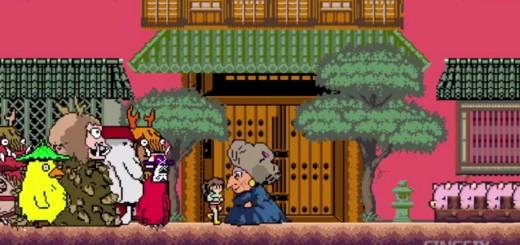 まるでファミコンゲーム!?『千と千尋の神隠し』を8bitアニメ化