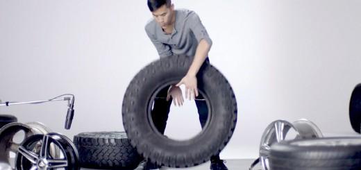 タイヤとホイールの音だけで演奏する猛者現る!タイヤってこんな音まで出るのか…