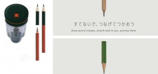 短くなった鉛筆同士をドッキング!もったいない精神が生んだ画期的な鉛筆削り「TUNAGO」