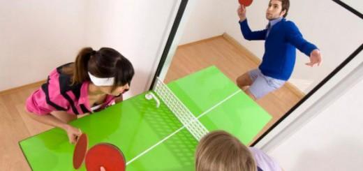 いつでも卓球できる!自宅のドアを卓球台に魔改造
