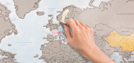 旅好き専用!訪れた国をスクラッチしていく世界地図