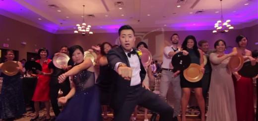 圧巻の一発撮り!結婚披露宴で参加者250名を巻き込んだダンス動画