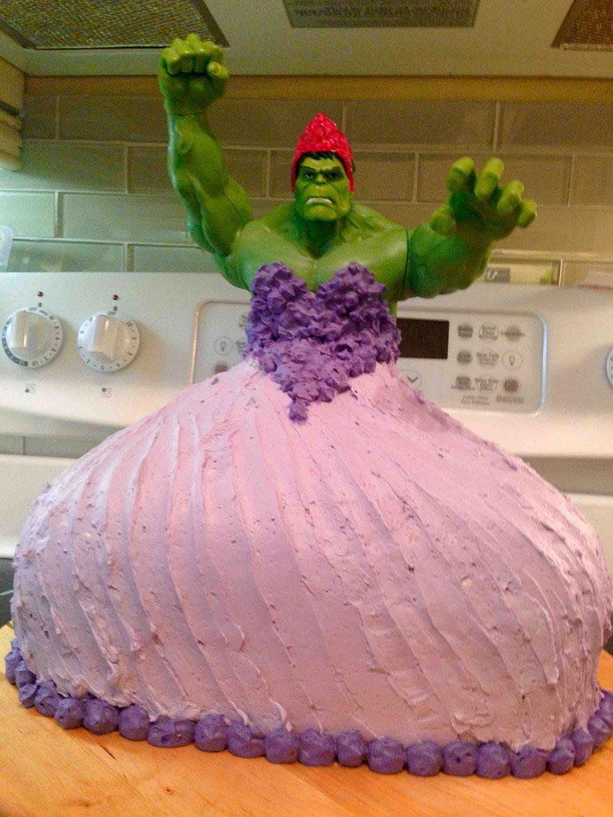 hulk-princess-cake-4-year-old-girls-twins-1