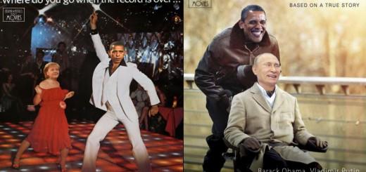 映画ポスターにオバマ、メルケル、プーチンが登場したら…どれも馴染んで笑える