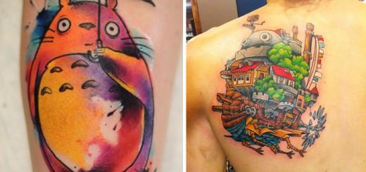 すごい完成度!ジブリ作品が好きすぎてタトゥーにした人々の写真20選
