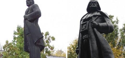 ソ連崩壊後に独立したウクライナのレーニン像、ダースベイダーに生まれ変わる