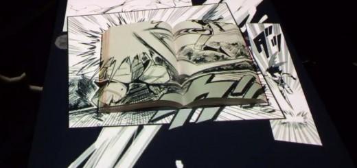 漫画のコマが本の上で動く!斬新なプロジェクションマッピングが話題