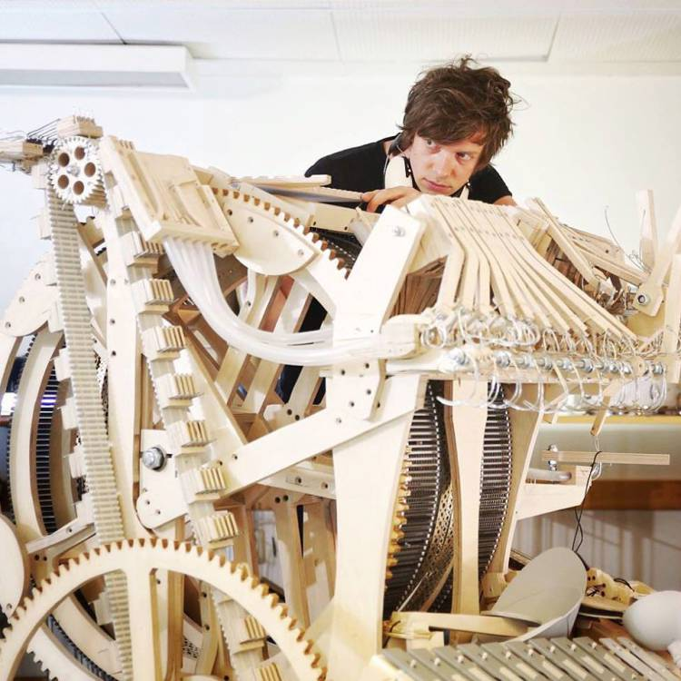 Wintergatan-Marble-Machine-in-Progress