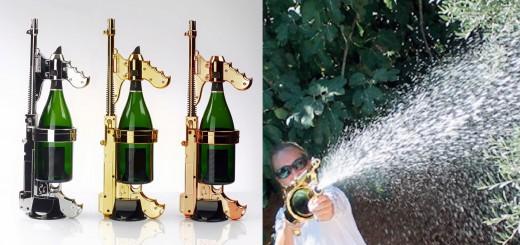 世界中のパリピが大喜び!シャンパンを瓶ごと水鉄砲に出来る「シャンパンガン」