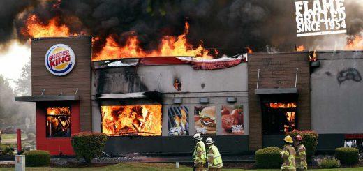 バーガーキングが自店舗の火災写真を広告起用!その驚くべき理由