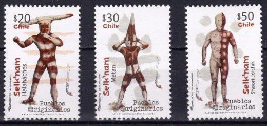 ウルトラマンの怪獣みたい!セルクナム族の精霊の切手がチリで発行