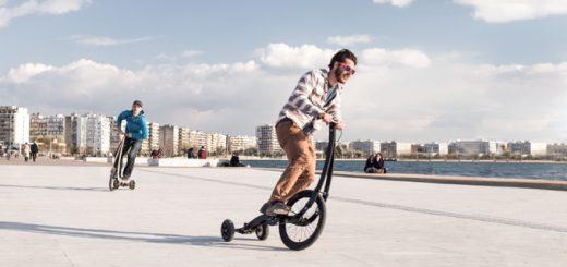 スケボー感覚で乗れ折りたためる!立ちこぎ自転車Halfbike