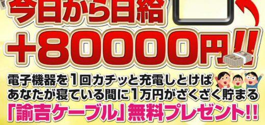 「諭吉ケーブル」がヤバい!コンセントに差し込むだけで日給8万