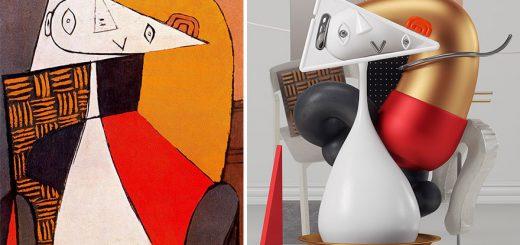 ピカソの抽象的な絵画を3Dプリンタで出力!フィギュアが可愛い