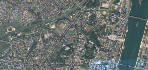 北朝鮮の平壌にある高層ビル群はGoogleマップで見るとハリボテ!?