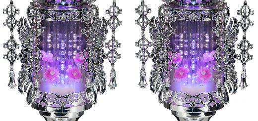 水泡が絶えず出てくる「バブル灯籠」が神秘的でオシャレ!仏具の進化に驚く人続出