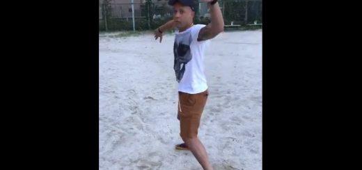冗談みたいな話!?たまたま通りがかった中日ジョーダン選手が野球を伝授